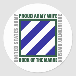 3rd Infantry Wife Classic Round Sticker