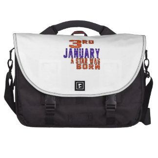 3rd January a star was born Bag For Laptop