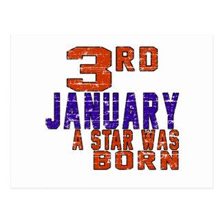 3rd January a star was born Postcard