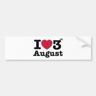 3rd july birthday design bumper sticker