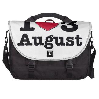 3rd july birthday design laptop computer bag