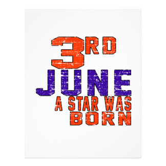 3rd June a star was born Letterhead Template