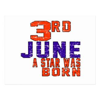 3rd June a star was born Postcard