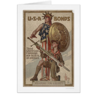3rd Liberty Loan Campaign Boy Scouts of America Card