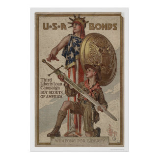 3rd Liberty Loan Campaign Boy Scouts of America Poster