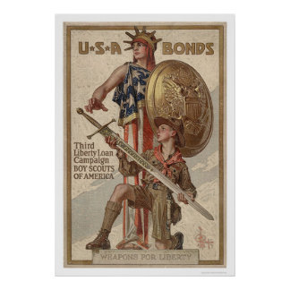 3rd Liberty Loan Campaign Boy Scouts (Restored) Poster