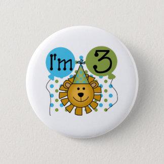 3rd Lion Birthday Button
