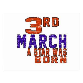 3rd March a star was born Postcard