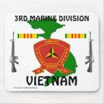 3rd Marine Div Vietnam Mousepad 1/wr