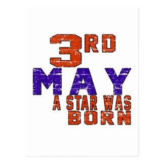 3rd May a star was born Postcard