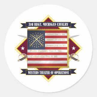 3rd Michigan Cavalry Classic Round Sticker