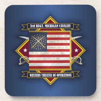 3rd Michigan Cavalry Drink Coaster