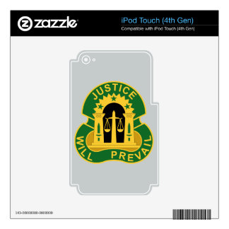 3rd Military Police Group - Justice Will Prevail iPod Touch 4G Decals