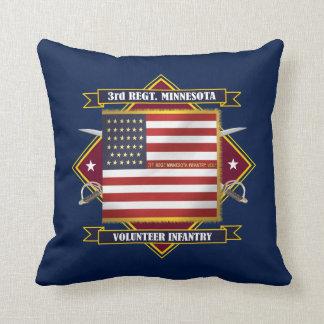 3rd Minnesota Volunteer Infantry Throw Pillow
