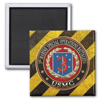 3rd MSOB [3D] 2 Inch Square Magnet