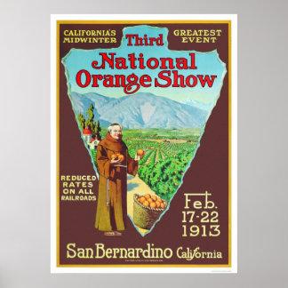 3rd National Orange Show 1913 Poster