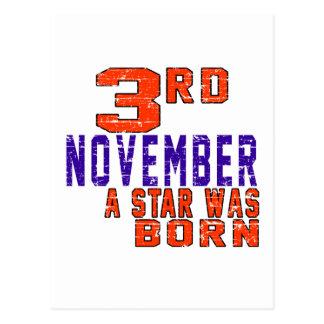 3rd November a star was born Postcard