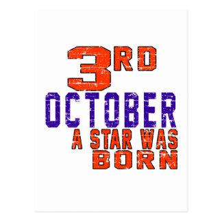 3rd October a star was born Postcard