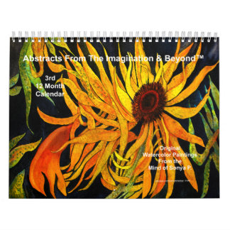 3rd Original Abstract Paintings Wall Calendar