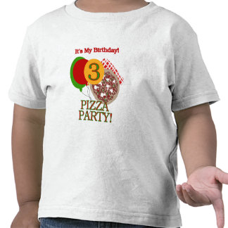 3rd Pizza Party Birthday Tshirts and Gifts