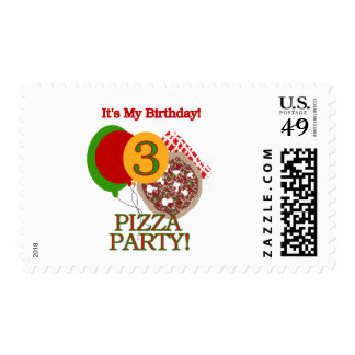 3rd Pizza Party Birthday Tshirts and Gifts Postage