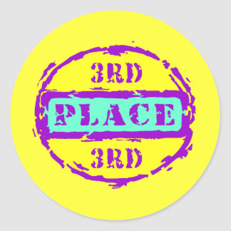 3rd Place Classic Round Sticker