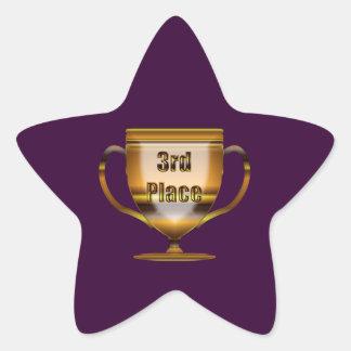3rd Place Trophy Star Sticker