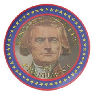 3rd President of the United States plate