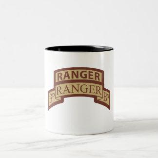 3rd Ranger Bn, Ranger Tab, Desert Two-Tone Coffee Mug