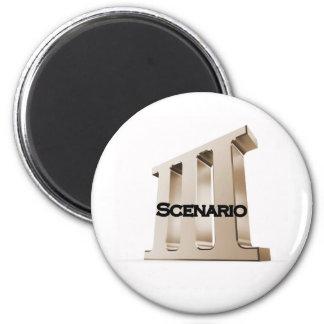 3rd Scenario new logo 6-23-11GLD 2 Inch Round Magnet
