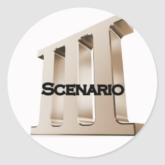 3rd Scenario new logo 6-23-11GLD Classic Round Sticker