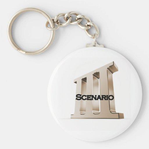 3rd Scenario new logo 6-23-11GLD Key Chain