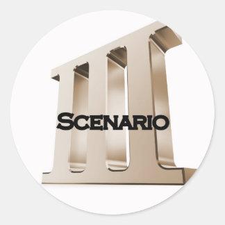 3rd Scenario new logo 6-23-11GLD Round Sticker