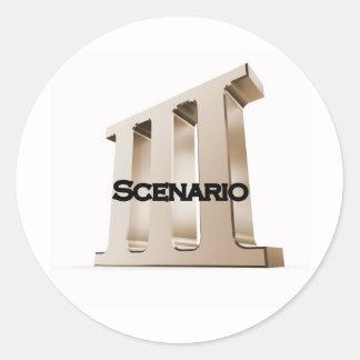 3rd Scenario new logo 6-23-11GLD Stickers