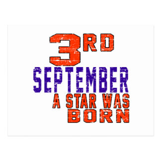 3rd September a star was born Postcard