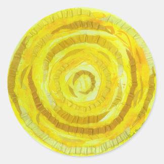 3rd-solar plexus chakra-#2 yellow artwork classic round sticker