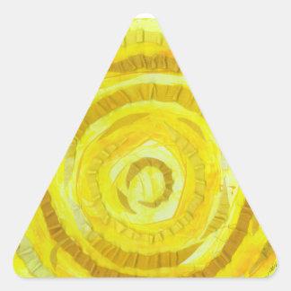 3rd-solar plexus chakra-#2 yellow artwork triangle sticker