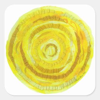 3rd-Solar Plexus Chakra-#2 Yellow Healing Artwork Square Sticker