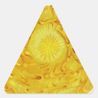 3rd-Solar Plexus Chakra Artwork #1 Triangle Sticker