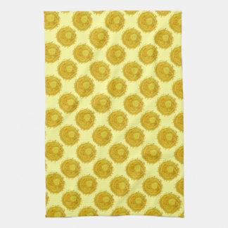 3rd-solar plexus chakra cleansing yellow sunburst kitchen towel