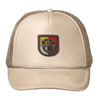 3rd special forces group flash crest iraq vets  Ha Trucker Hat