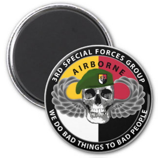 3rd Special Forces Group Skull 2 Inch Round Magnet