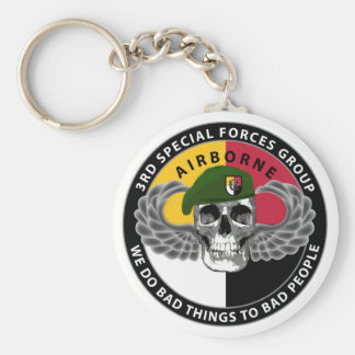 3rd Special Forces Group Skull Keychain