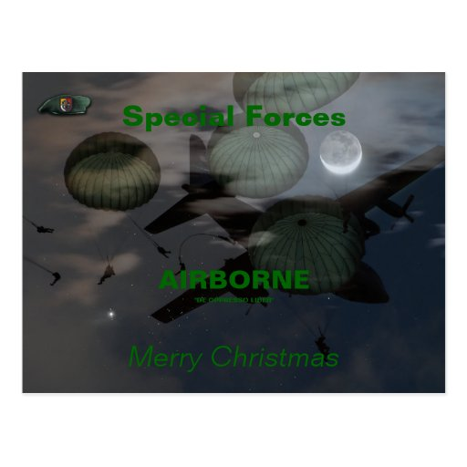 3rd special forces group son green berets Postcard