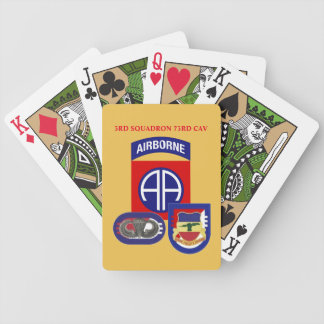 3RD SQUADRON 73RD CAVALRY PLAYING CARDS