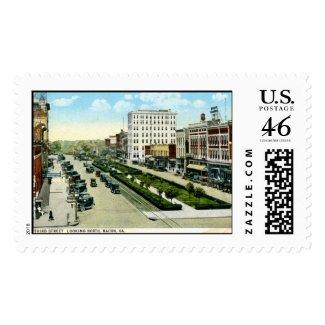 3rd St., Macon, Georgia 1920s Vintage stamp