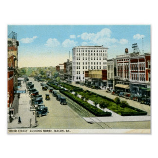 3rd St Macon Georgia 1920s Vintage Poster