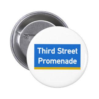 3rd Street, Los Angeles, CA Street Sign Pin