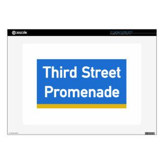 "3rd Street, Los Angeles, CA Street Sign 15"" Laptop Decals"