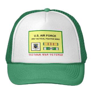 3RD TACTICAL FIGHTER WING VIETNAM WAR VET TRUCKER HAT